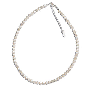 Sterling Silver Girls Pearl Necklace for Children - Zoey