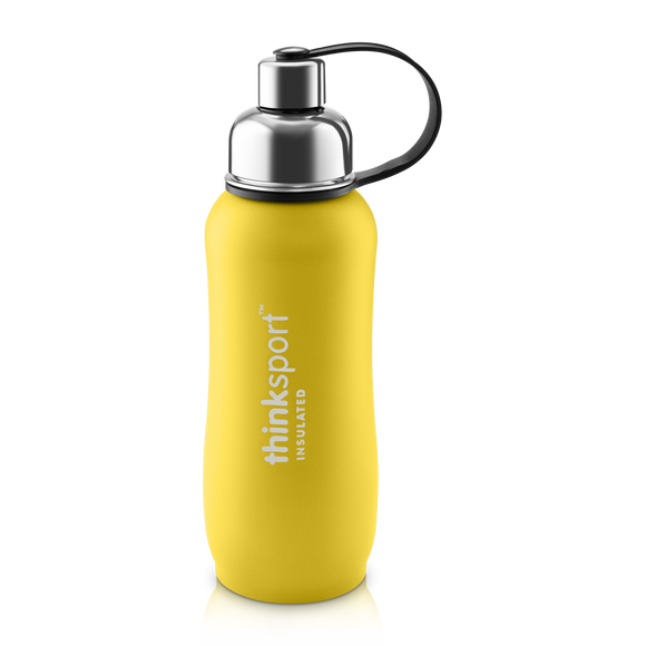Insulated Sports Bottle - Coated Yellow 24 oz