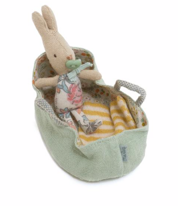 Baby Bunny in Carrycot - Victoria's Toy Station