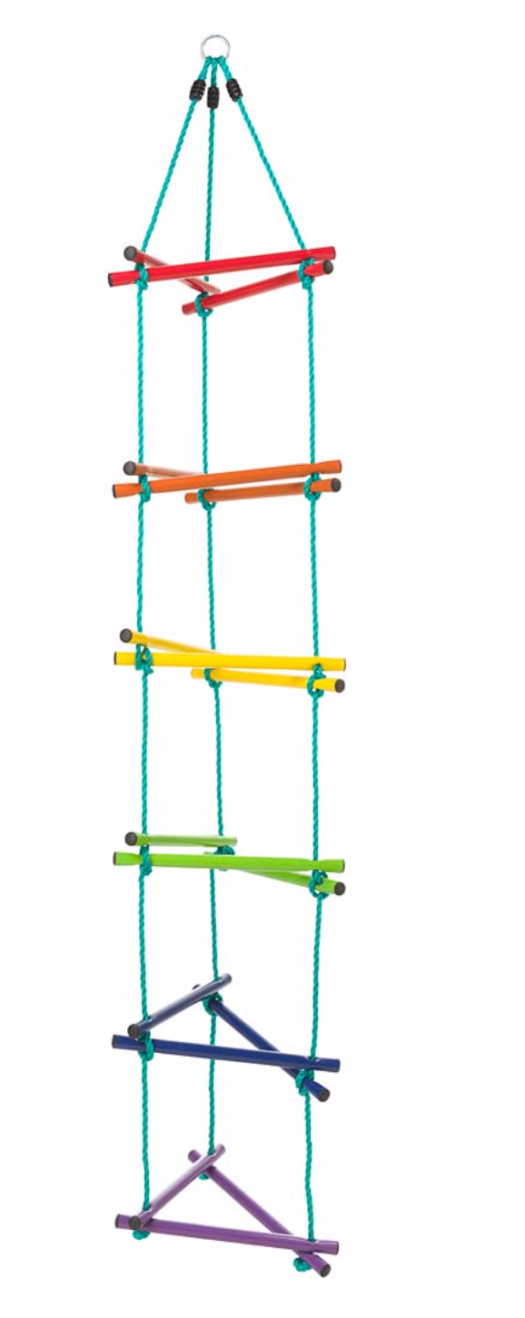 Rainbow Triangle Rope-Climbing Ladder with Metal Rungs - Victoria's Toy Station