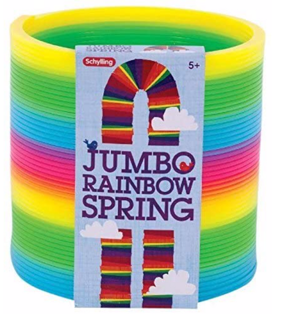 Toy Jumbo Rainbow Slinky - Victoria's Toy Station
