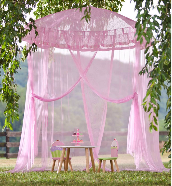 Sparkling Lights Light-Up Bed Canopy - Pink - Victoria's Toy Station