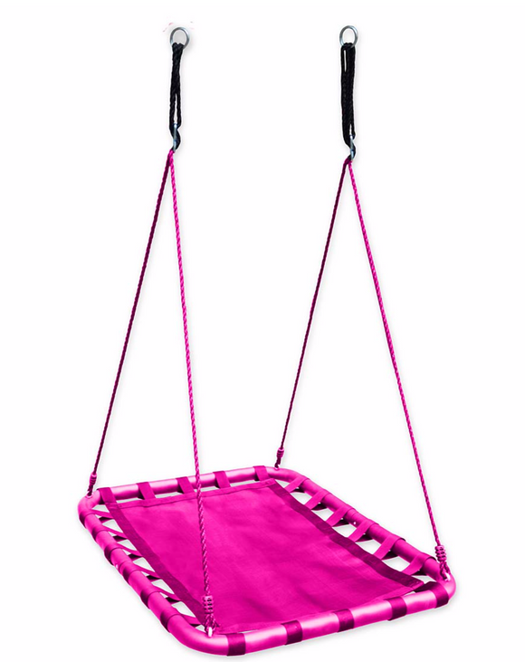PINK  Mega Mat Rectangular Platform Tree Swing