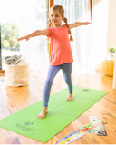 Yoga Mat and Pose Instruction