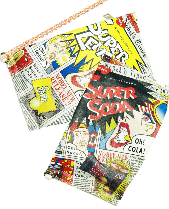 Super Oh Soda! and Super Lemon Cross Body Purse