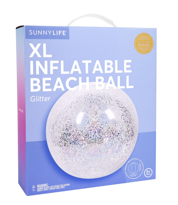 INFLATABLE BEACH BALL | GLITTER XL