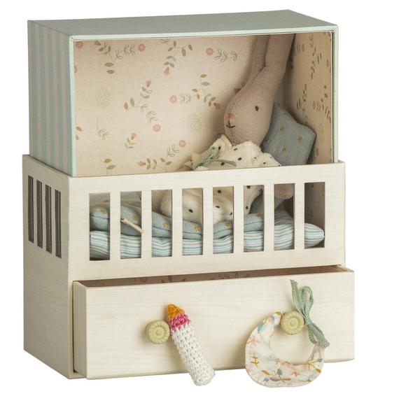 Baby Room Music Box w. Micro Rabbit Blue