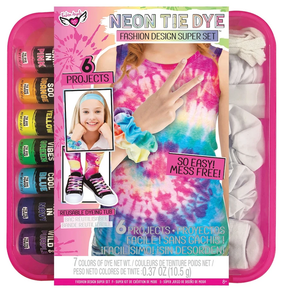 Neon Tie Dye Fashion Design Super Set