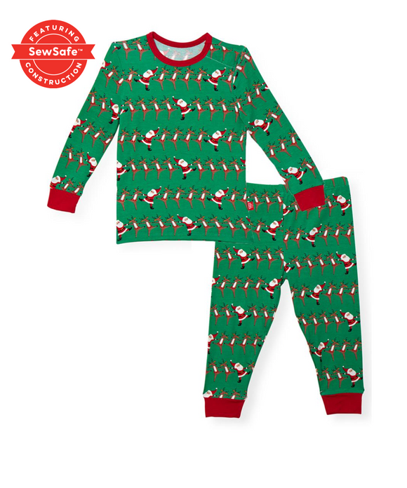 holly folly jolly modal toddler pajama set