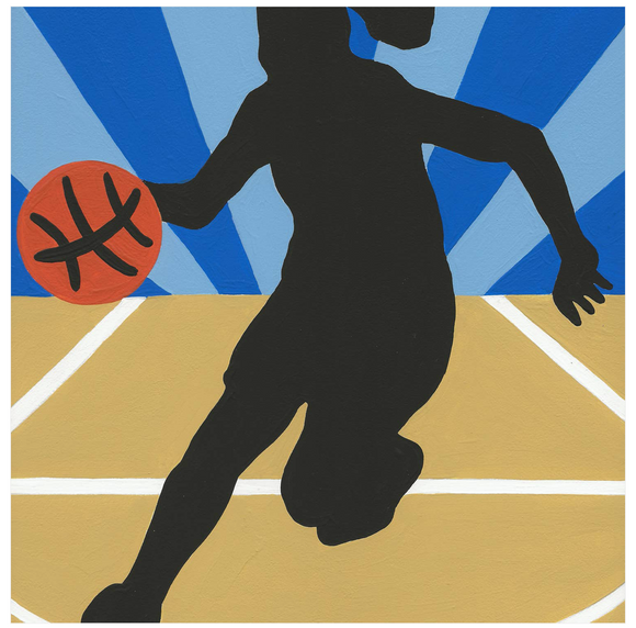 Basketball Girl - 6 Color Paint by Number Kit