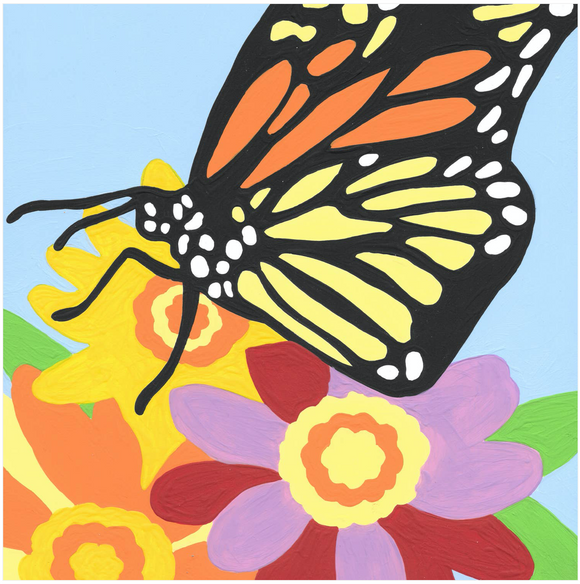 Butterfly - 9 Color Paint by Number Kit