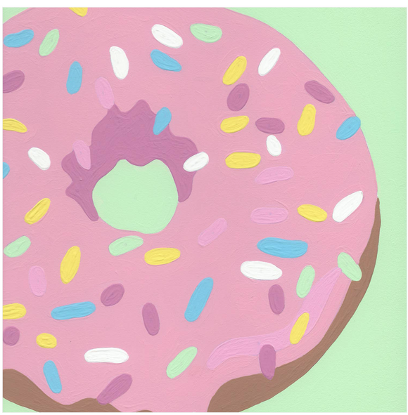 Donut with Sprinkles - 8 Color Paint by Number Kit