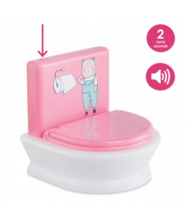 "Interactive toilet for 12""/14"" baby doll"