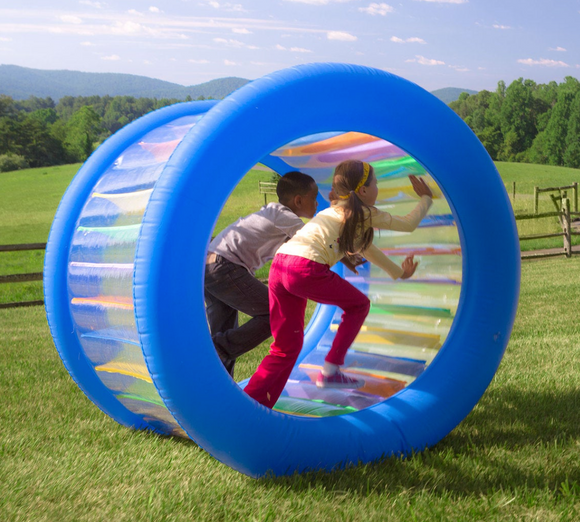 Roll With It! Giant Inflatable Rolling Wheel