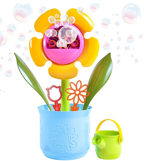 Flower Pot Toy with Bonus Bubble Solution
