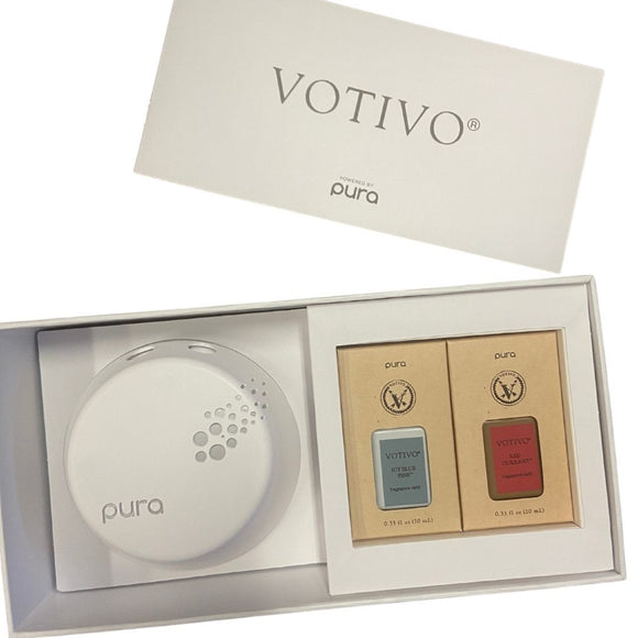 Pura Diffuser and votivo scent set