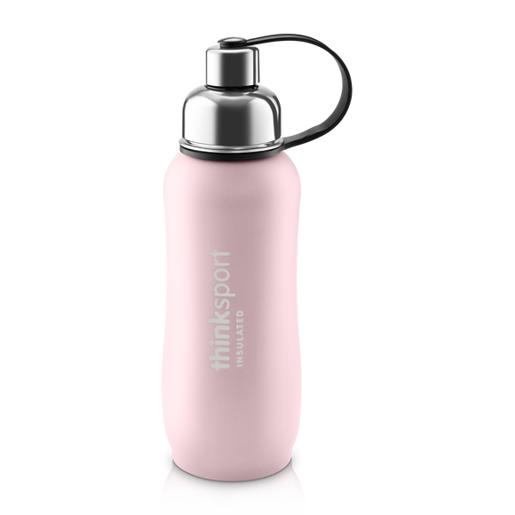 Insulated Sports Bottle - Coated Pink 17 oz