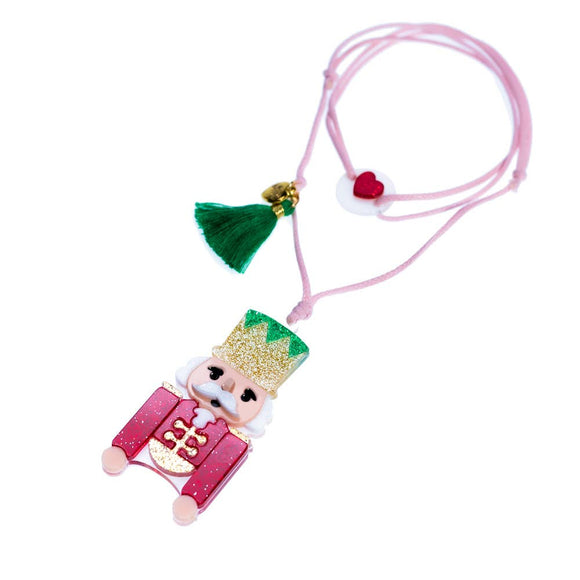Nutcracker Glitter Red Necklace - Holiday