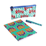 TIGER ROAR NOTEBOOK, PENCIL BAG AND PEN SET
