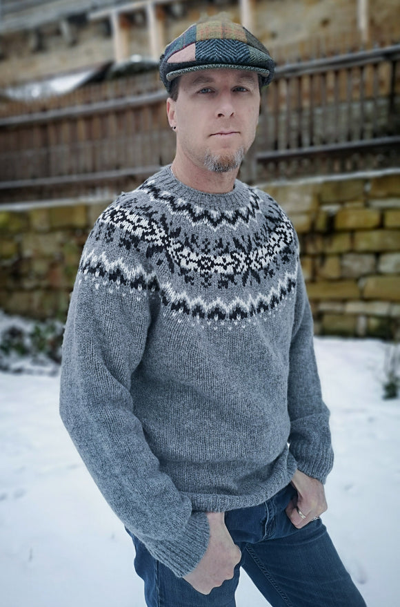 Med Grey Fair Isle Pullover - Harley of Scotland