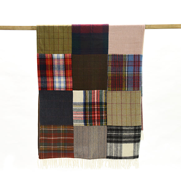 Tweedmill Patchwork Decke Tartan und Tweed