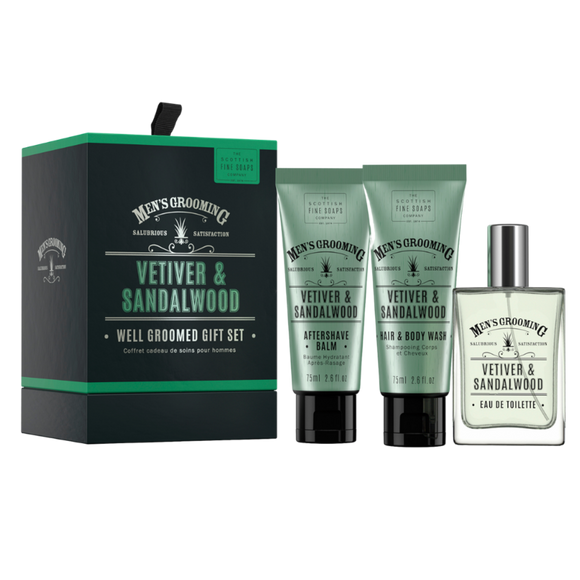 Scottish Fine Soaps Vetiver&Sandelholz Geschenk-Set