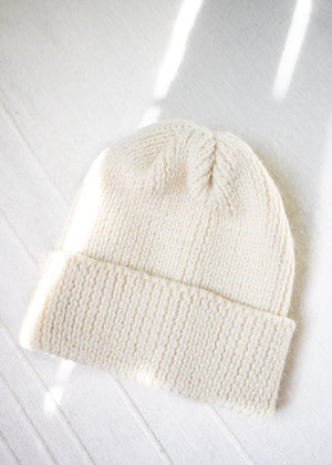 Load image into Gallery viewer, Ribbed Wool Toque Ecru