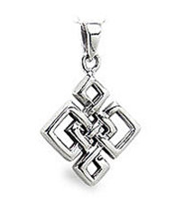 Sterling Silver Interwoven Celtic Pendant for Men and Women