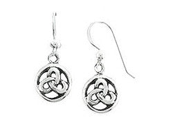 petite round celtic earrings sterling silver