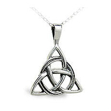 celtic triangle pendant sterling silver