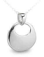 High Polish Sterling Silver Classic Oval Pendant