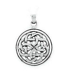 sterling silver round celtic pendant