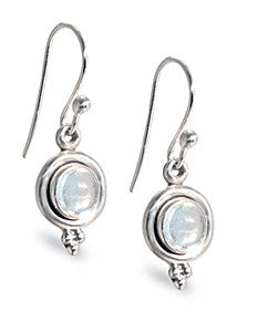Moonstone Sterling Silver Dangle Earrings
