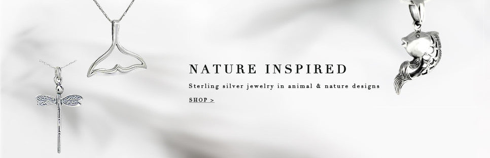sterling silver nature inspired jewelry