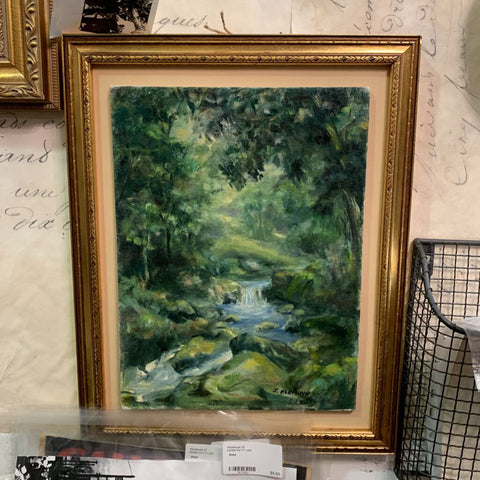 Vintage landscape painting in 11 by 14 inch frame