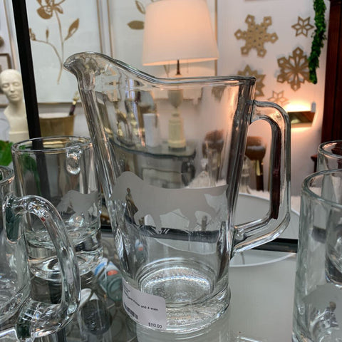 Hunting Beer Pitcher and 4 stein