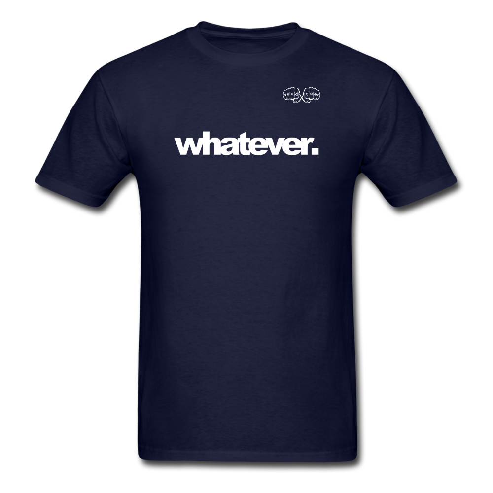 whatever. White Text - navy