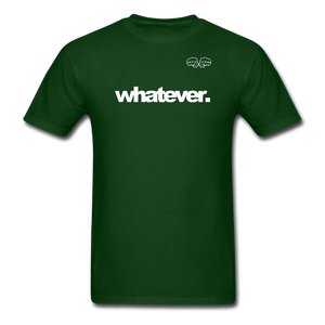 whatever. White Text - forest green