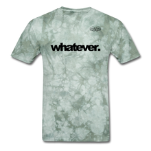 Load image into Gallery viewer, whatever. Black Text - military green tie dye
