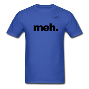 meh. Black Text - royal blue