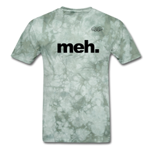 Load image into Gallery viewer, meh. Black Text - military green tie dye