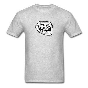 Troll Face - heather gray
