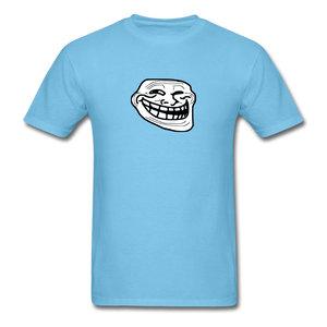 Troll Face - aquatic blue