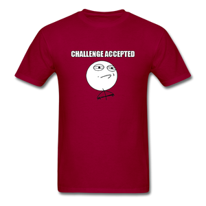 Challenge Accepted - dark red