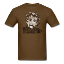 Load image into Gallery viewer, Albert Einstein Calligram - brown