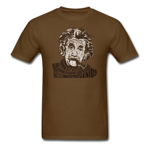 Albert Einstein Calligram - brown