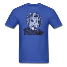 Load image into Gallery viewer, Albert Einstein Calligram - royal blue