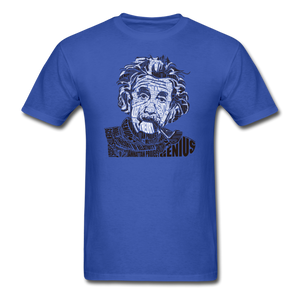 Albert Einstein Calligram - royal blue