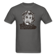 Load image into Gallery viewer, Albert Einstein Calligram - charcoal