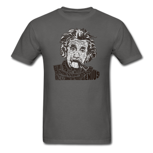 Albert Einstein Calligram - charcoal